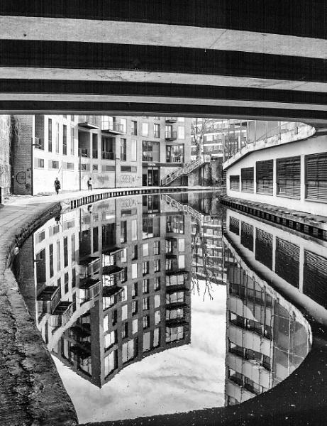 bridge and reflection by mogobiker