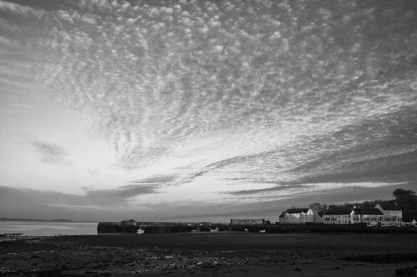 Sunset Garlieston Harbour by Backabit