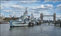 HMS Belfast and London Bridge