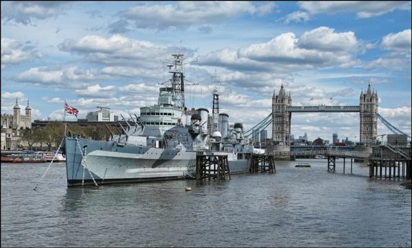 HMS Belfast and London Bridge by stocksbridge
