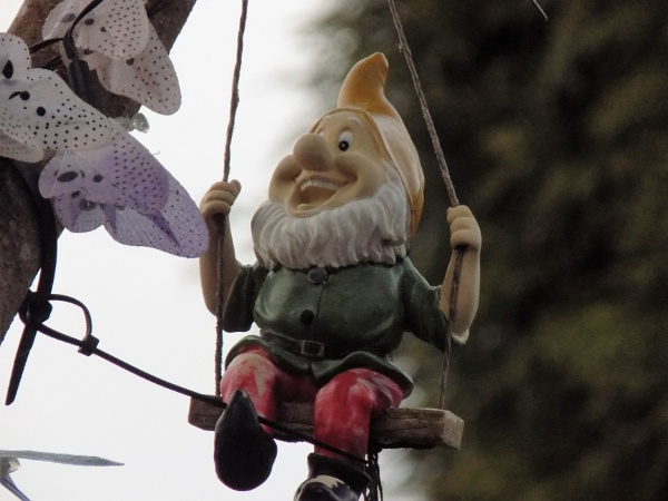 gnome having a swinging time by eagle1955
