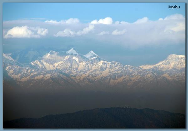 Himalayan view from Nainital. by debu