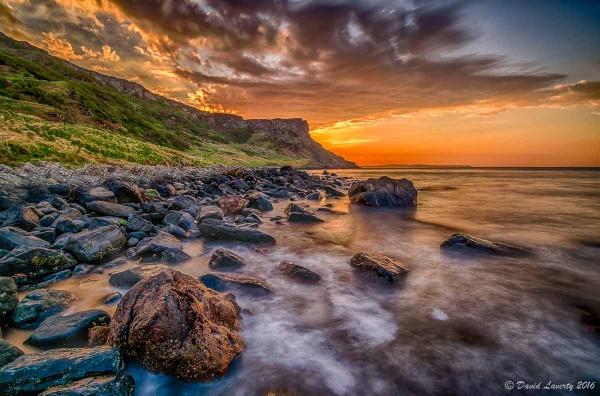 Fairhead Sunset by DavidLaverty