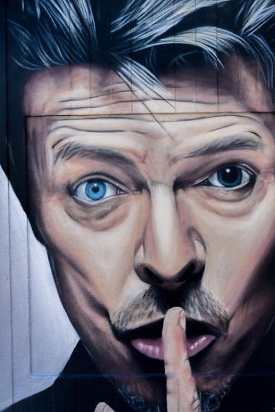 David Bowie, Street Art by justwilliam