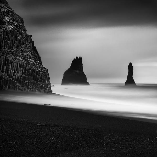 Black, Black Beach by RobboB
