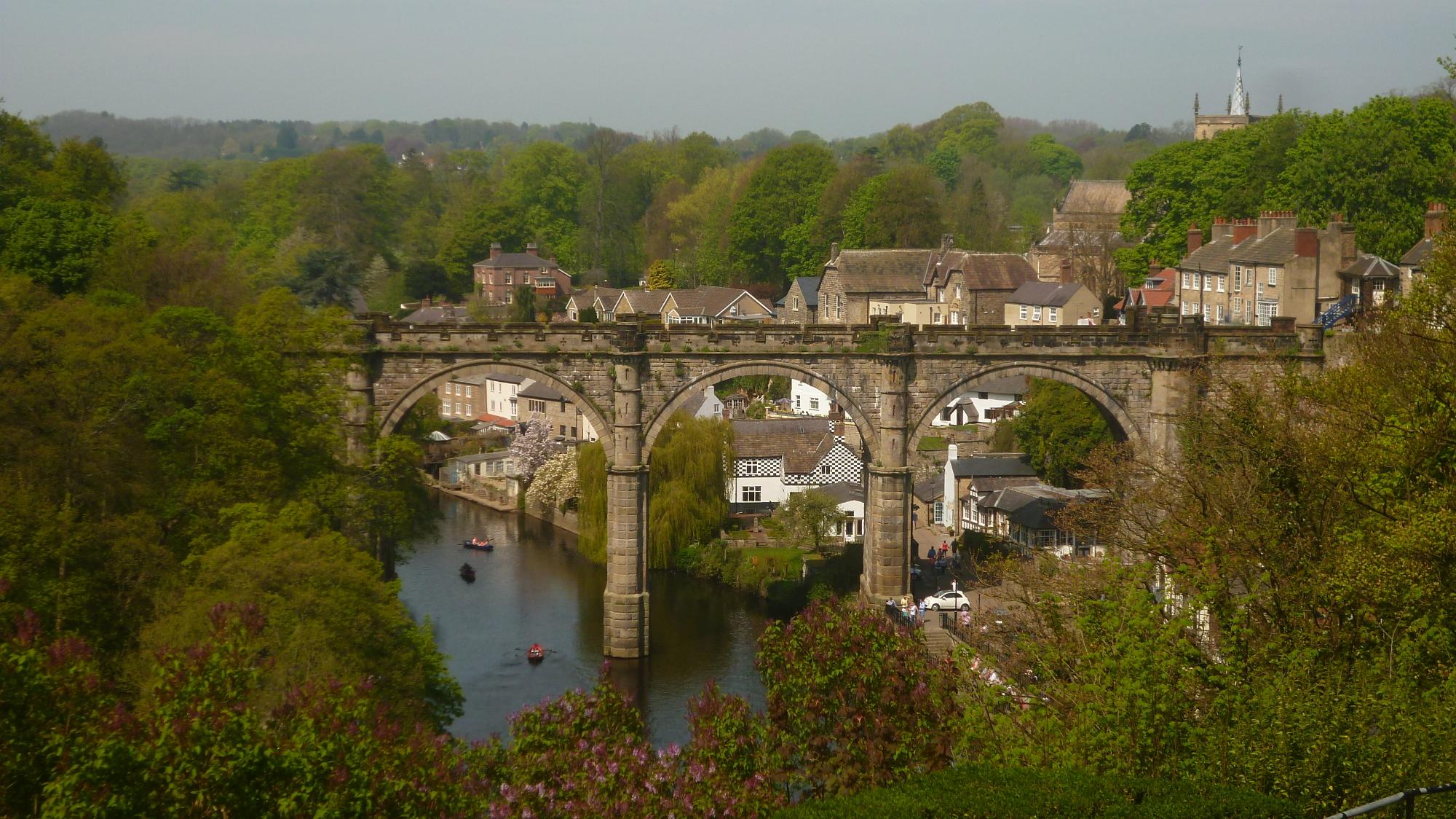River Nidd and Knaresboroughs railway viaduct.