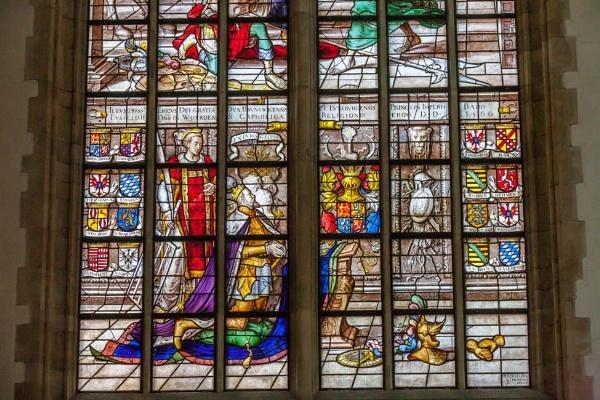 The birth of John the Baptist Lower part of window by kuipje