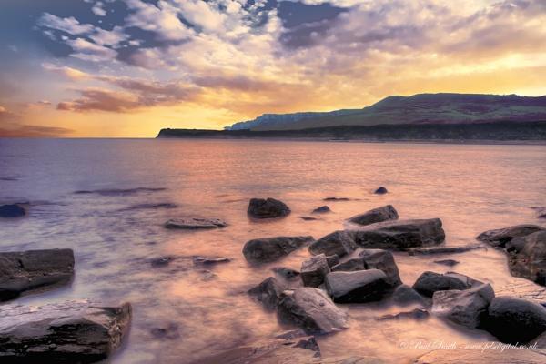 Sunset at Kimmeridge Bay, Dorset by pdsdigital
