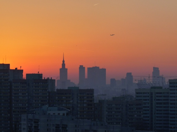 Warsaw skyline. by oselimg