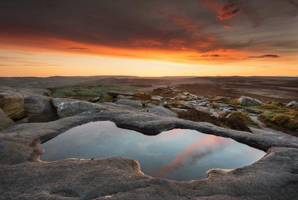 Sunset Pool by Trevhas