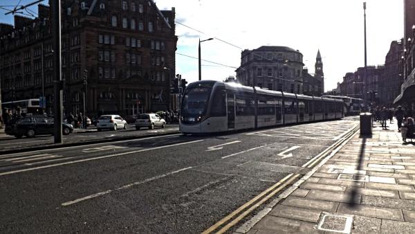 Edinburgh Tram travelling w/in Princess Street by xosn