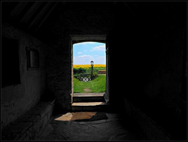 Through the open door of St.John the Baptist church Inglesham Wiltshire. by brandish