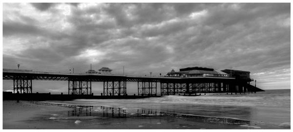 Cromer Pier at dusk 2 by malleader