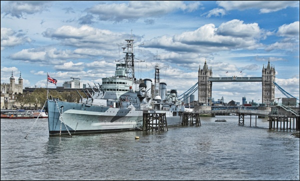 HMS Belfastand TowerBridge by stocksbridge
