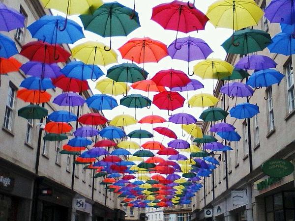 Umbrellas in Bath by dixy