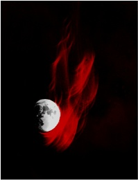 under blood moon