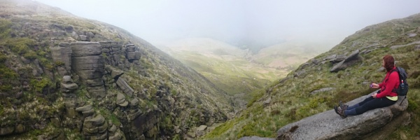 Misty day on Kinder Scoout by smilly