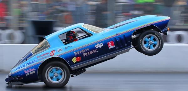 Corvette wheelie car by colin beeley