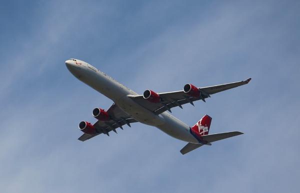 Virgin Airbus 340 by goochian3