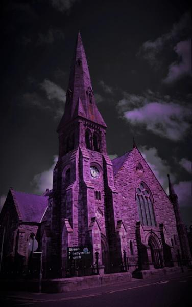 Eerie Stream Church by NiteHawk2012