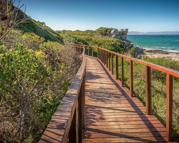 Footbridge, Hermanus coastal path by cimic