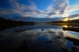 Sunrise at Carr Mill Dam ,St Helens