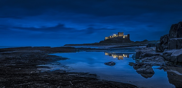 Bamburgh Castle reflections by pdove