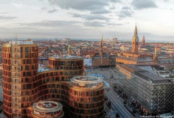 The cityscape of Copenhagen Denmark  a closer view by StevenBest