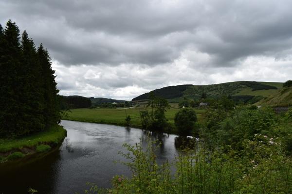 Tweed River Bend - Cardrona, Scottish Borders by xosn