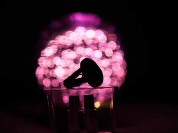 Purple Bokeh Ring Silhouette by MUSTDOS