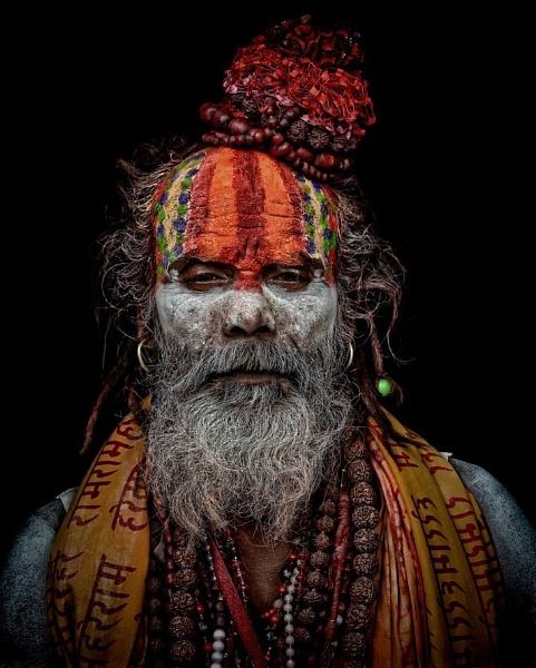 sadhu in meditation by sawsengee