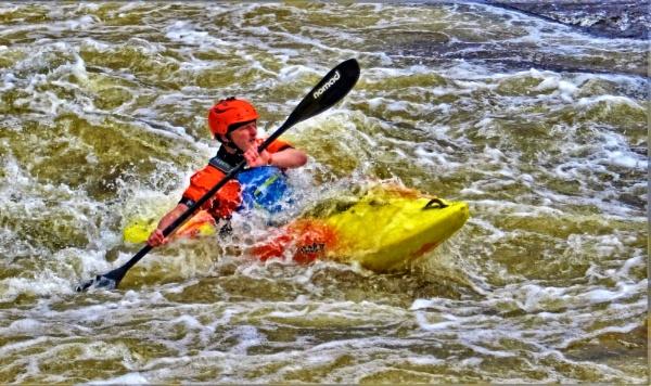 Llangollen kayaker by pks