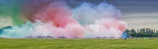 The Italian Tricolori Aerobatic team ready to take off by jimobee