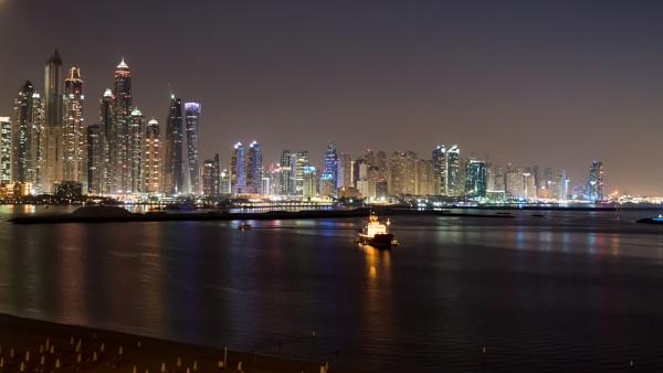 Dubai Skyline by johnatkinson