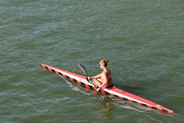 Evening kayaker by brianwakeling