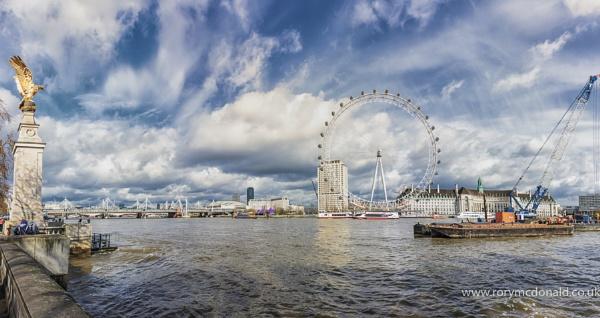 Big Sky Over London Eye by Rorymac