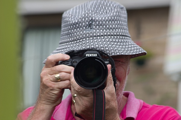 pentax k500 with attached old fart. by alant2