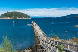 Pier at Mayne Island, BC