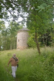 A picture straight from the camera of Bjarni moving away from the old Dovecote:)