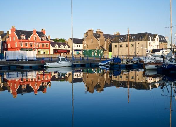Reflections on water, Stornoway marina by prtd