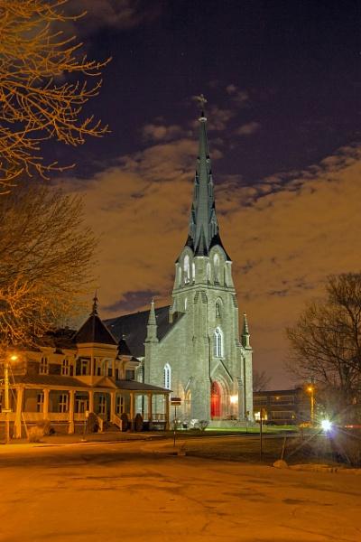 Illuminated Church by Johnpt
