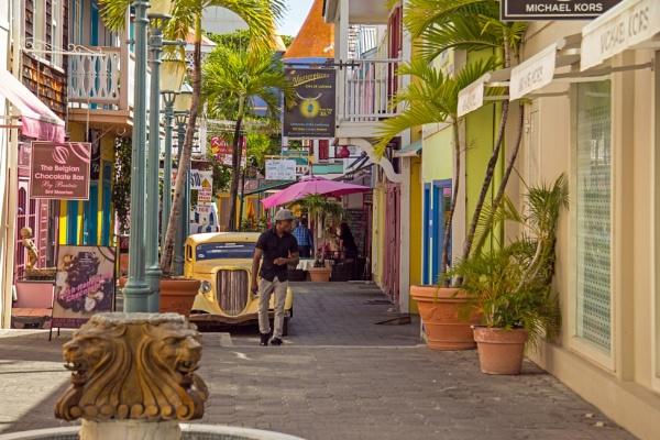 Caribbean Street Scene by Johnpt