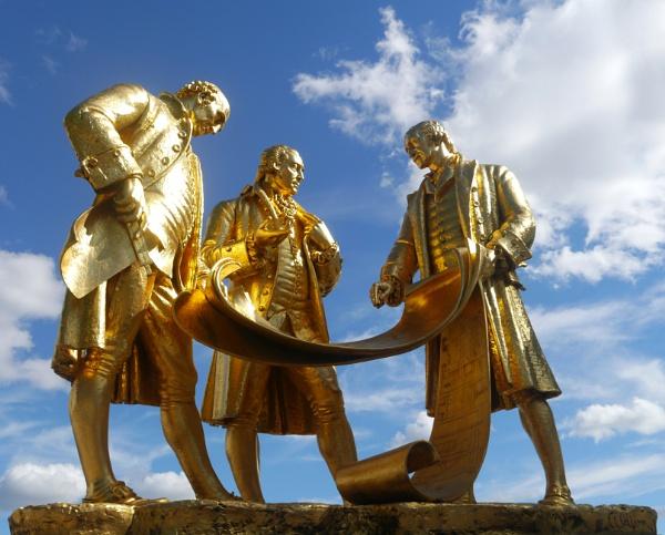 Matthew Boulton, James Watt and William Murdoch by happysnapperman