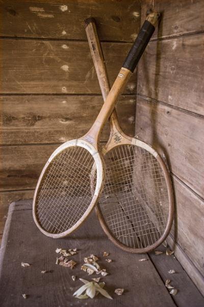 Old Raquets by bwlchmawr