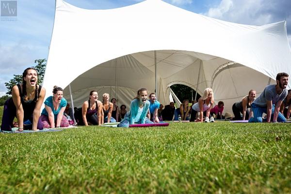 Yoga in the Park. by matthewwheeler