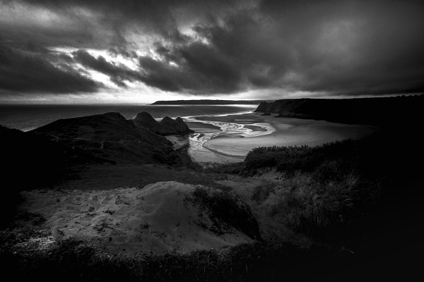 3 Cliffs, Gower by Alan_Coles