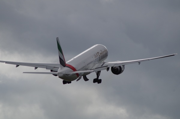 Emirates B777-300 on take-off earlier today by Kako