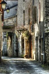 Street in Cajarc France.