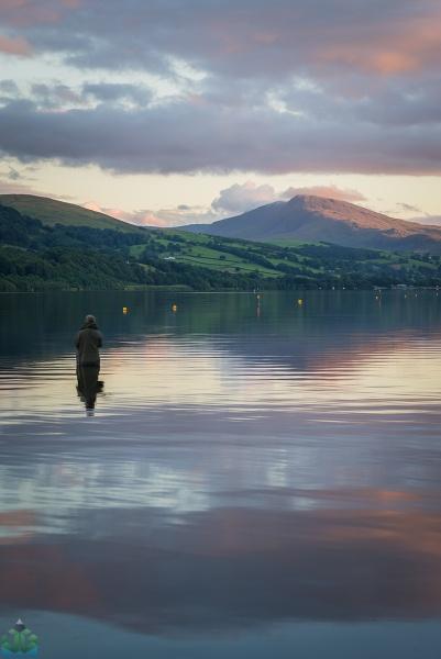 Bala Lake Fisherman by jamesgrant