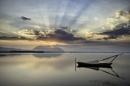 Sunrise at the lake by Diggeo